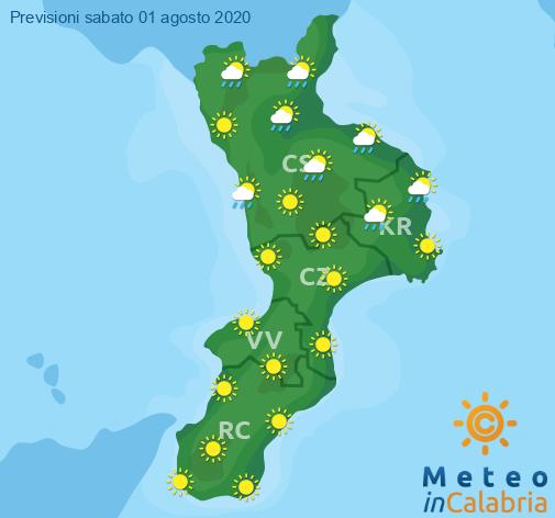 Previsioni Meteo Calabria 01-08-2020