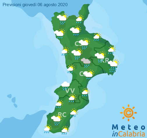 Previsioni Meteo Calabria 06-08-2020