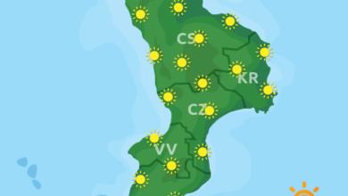 Previsioni Meteo Calabria 13-08-2020