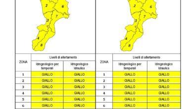 Criticità idrogeologica-idraulica e temporali in Calabria 10-08-2020