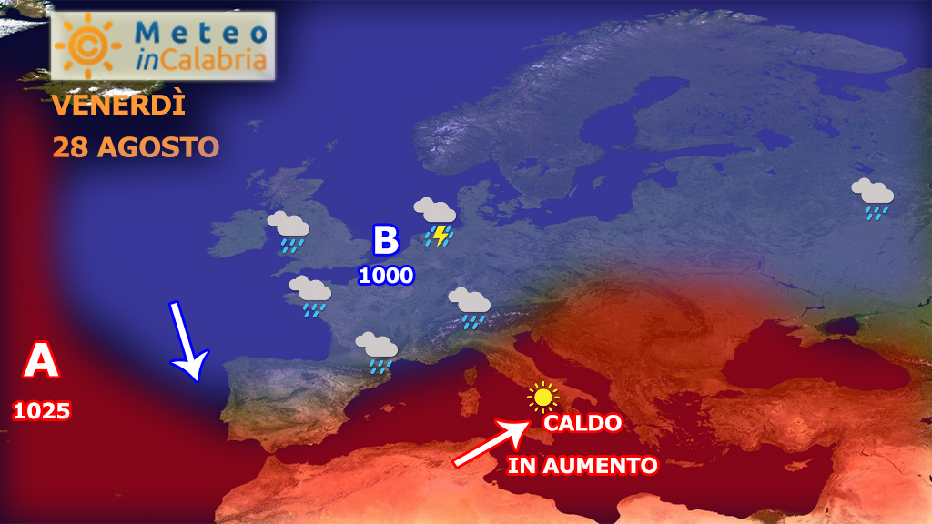 Ultimo week-end di agosto con caldo africano