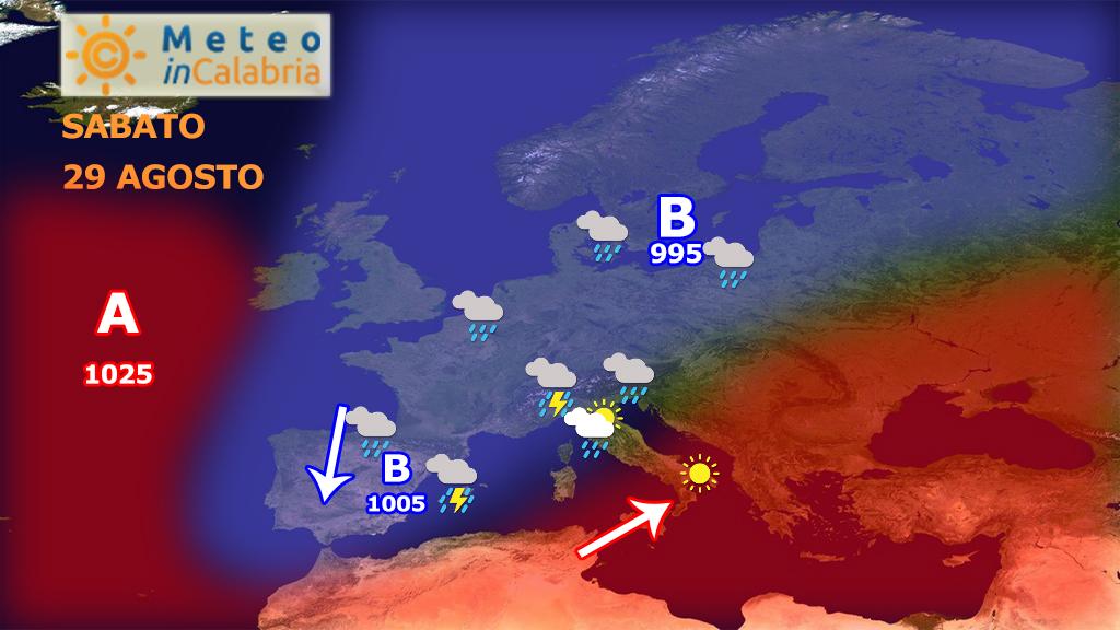 Nuova ondata di caldo ma giungono novità dall'atlantico