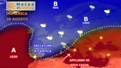 Ultime ore di gran caldo: da lunedì pomeriggio deciso calo termico