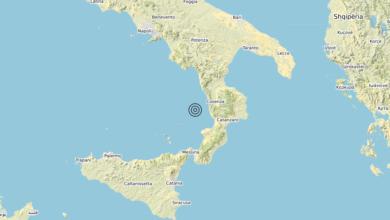 Terremoto Calabria 20-08-2020