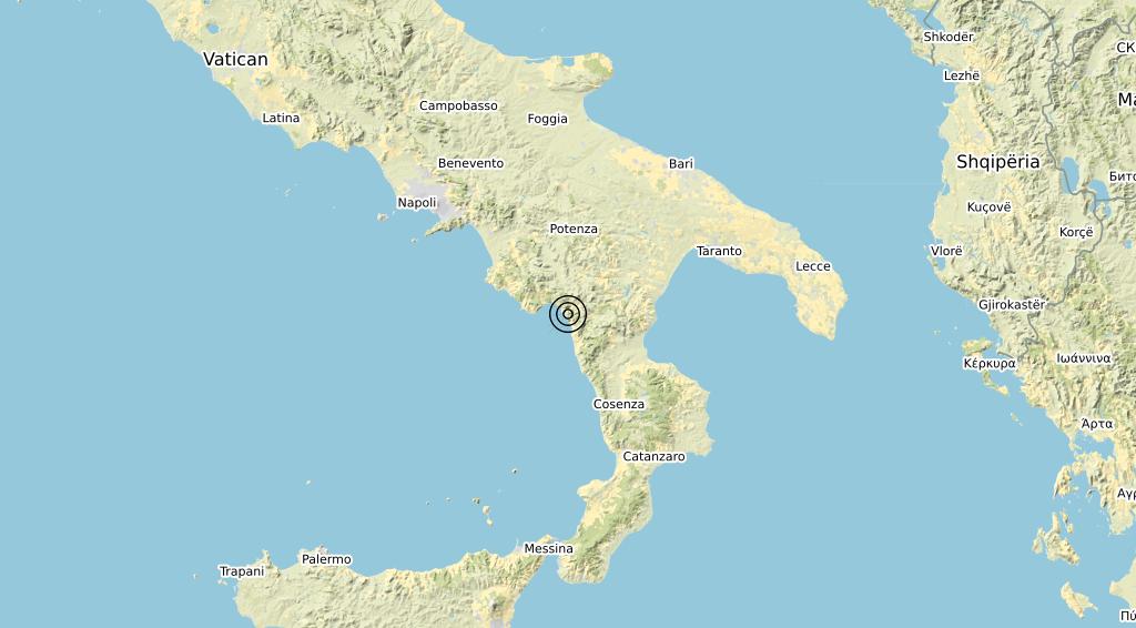 Terremoto Calabria 24-08-2020