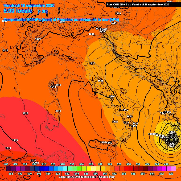 "Il ciclone tropicale ""Udine"