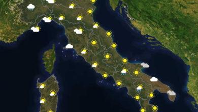 Previsioni del tempo in Italia per il giorno 19/09/2020