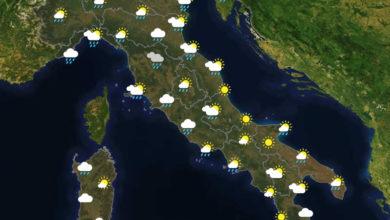 Previsioni del tempo in Italia per il giorno 23/09/2020
