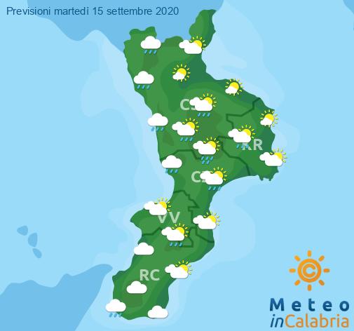 Previsioni Meteo Calabria 15-09-2020