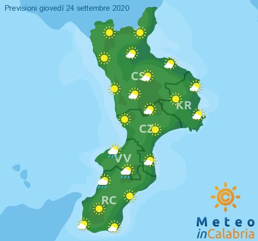 Previsioni Meteo Calabria 24-09-2020