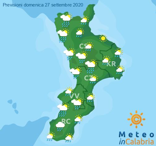 Previsioni Meteo Calabria 27-09-2020