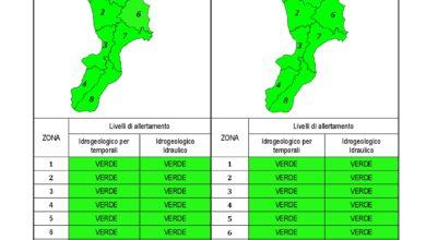 Criticità idrogeologica-idraulica e temporali in Calabria 19-09-2020