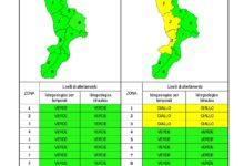 Criticità idrogeologica-idraulica e temporali in Calabria 22-09-2020