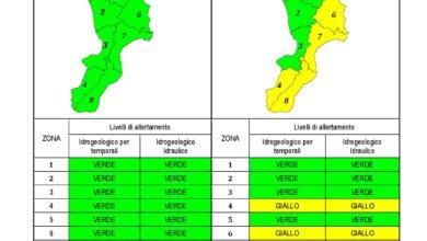 Criticità idrogeologica-idraulica e temporali in Calabria 30-09-2020
