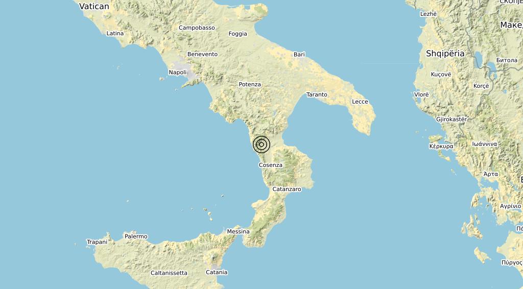 Terremoto Calabria 06-09-2020