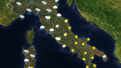 Previsioni del tempo in Italia per il giorno 26/10/2020