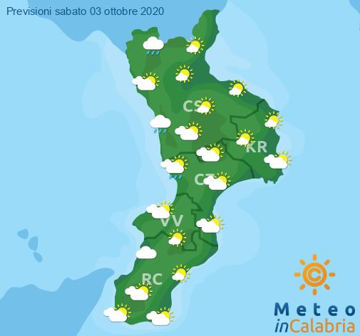 Previsioni Meteo Calabria 03-10-2020