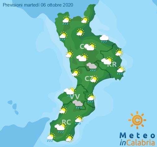 Previsioni Meteo Calabria 06-10-2020