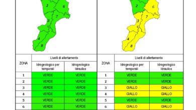 Criticità idrogeologica-idraulica e temporali in Calabria 18-10-2020