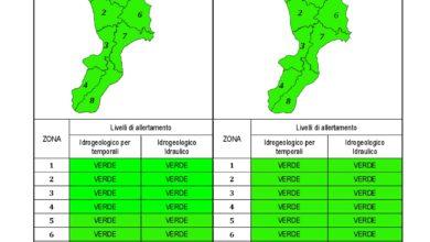 Criticità idrogeologica-idraulica e temporali in Calabria 22-10-2020