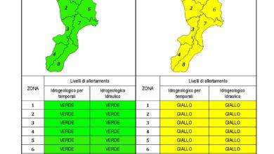 Criticità idrogeologica-idraulica e temporali in Calabria 26-10-2020