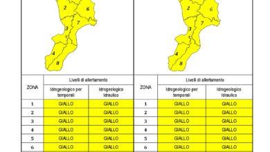 Criticità idrogeologica-idraulica e temporali in Calabria 27-10-2020