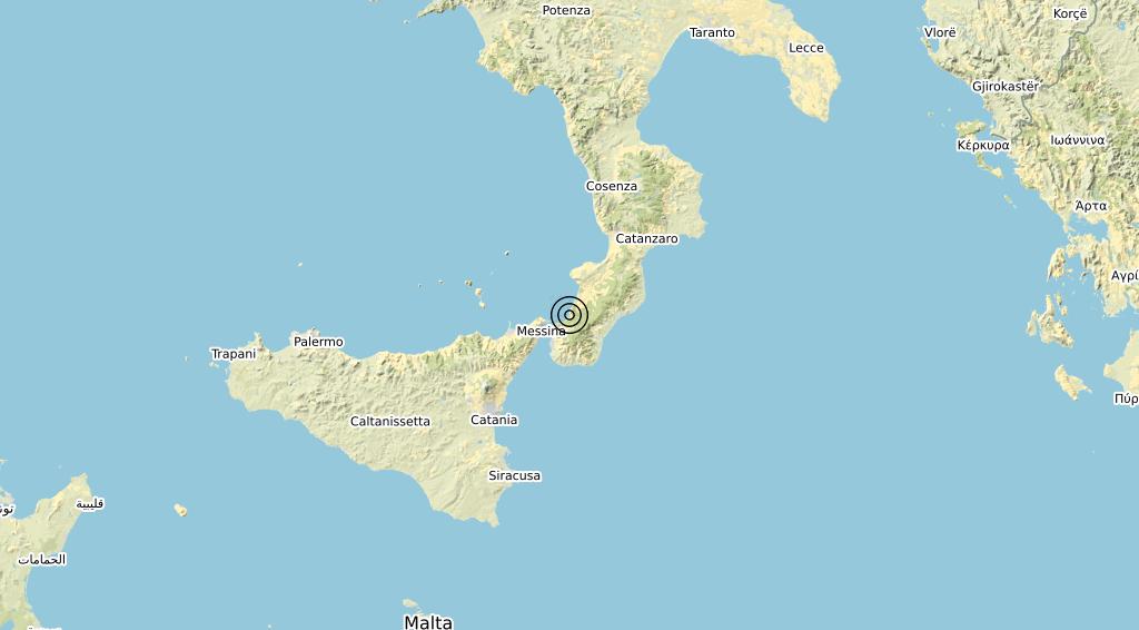 Terremoto Calabria 25-10-2020