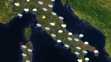 Previsioni del tempo in Italia per il giorno 28/11/2020