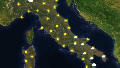 Previsioni del tempo in Italia per il giorno 30/11/2020
