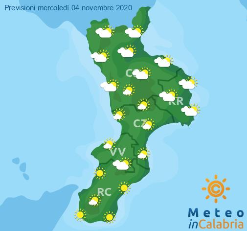Previsioni Meteo Calabria 04-11-2020