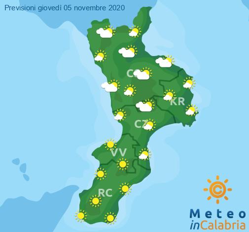 Previsioni Meteo Calabria 05-11-2020