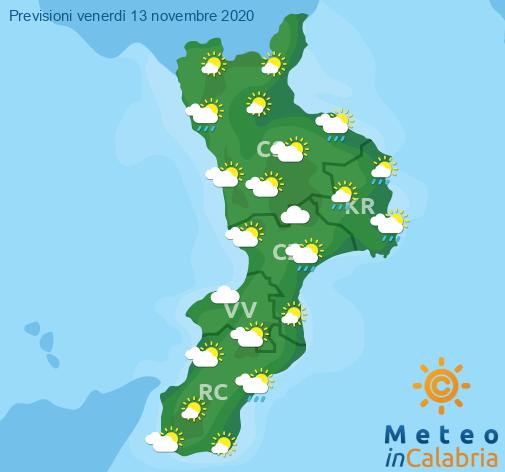 Previsioni Meteo Calabria 13-11-2020