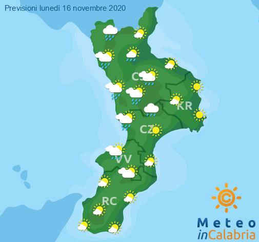 Previsioni Meteo Calabria 16-11-2020