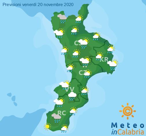 Previsioni Meteo Calabria 20-11-2020