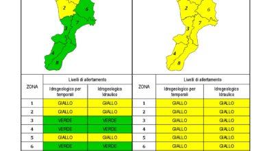 Criticità idrogeologica-idraulica e temporali in Calabria 16-11-2020