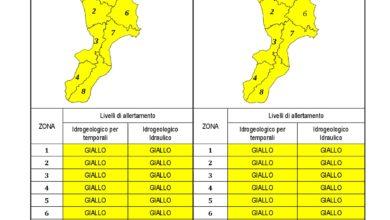 Criticità idrogeologica-idraulica e temporali in Calabria 17-11-2020