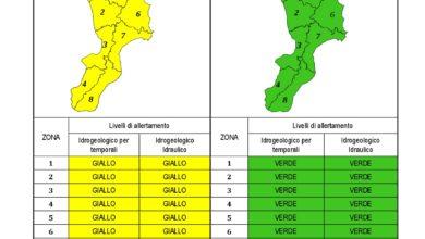 Criticità idrogeologica-idraulica e temporali in Calabria 18-11-2020