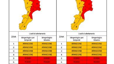 Criticità idrogeologica-idraulica e temporali in Calabria 21-11-2020