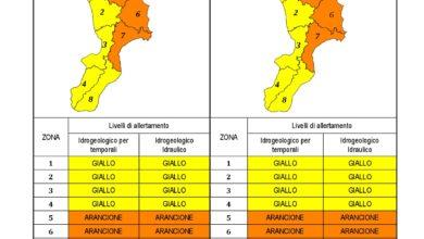Criticità idrogeologica-idraulica e temporali in Calabria 22-11-2020