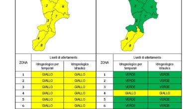 Criticità idrogeologica-idraulica e temporali in Calabria 23-11-2020