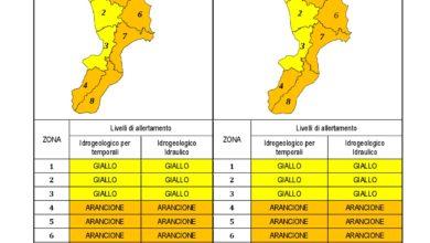 Criticità idrogeologica-idraulica e temporali in Calabria 28-11-2020