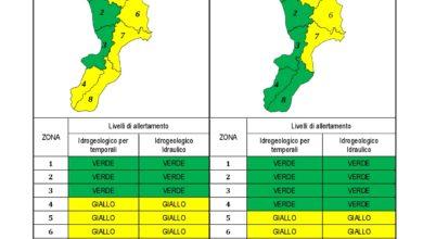 Criticità idrogeologica-idraulica e temporali in Calabria 29-11-2020