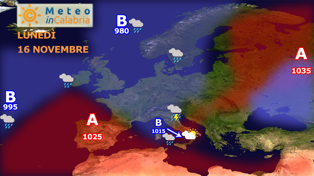Ritorno delle piogge sulla Calabria