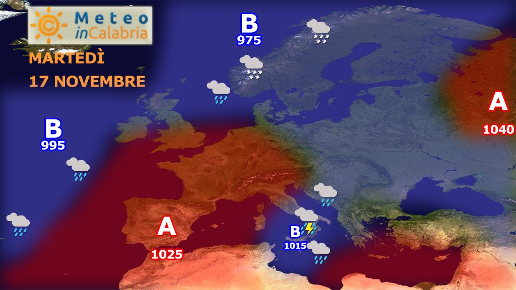 Imminente peggioramento delle condizioni meteo