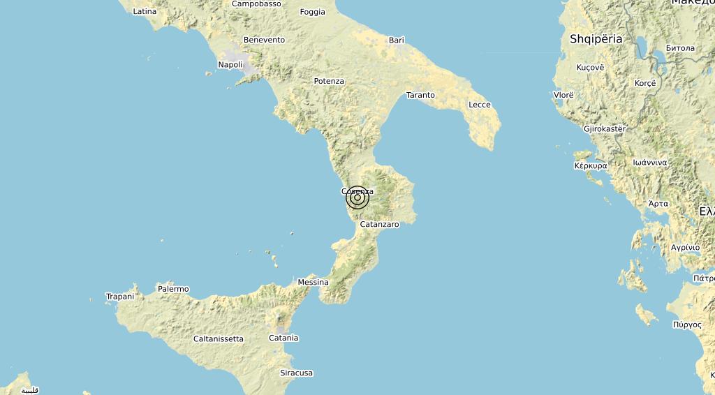 Terremoto Calabria 01-11-2020