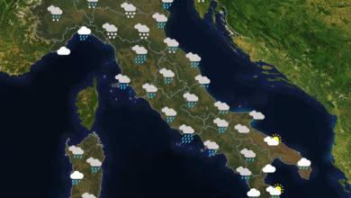 Previsioni del tempo in Italia per il giorno 02/12/2020