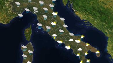 Previsioni del tempo in Italia per il giorno 05/12/2020