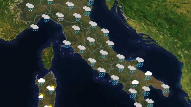 Previsioni del tempo in Italia per il giorno 06/12/2020