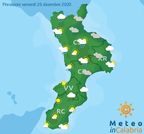 Previsioni Meteo Calabria 25-12-2020