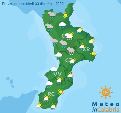 Previsioni Meteo Calabria 30-12-2020
